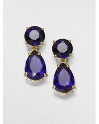 kate spade new york | Blue Faceted Drop Earrings | Lyst
