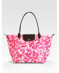 Longchamp   Pink Darshan Large Tote Bag   Lyst