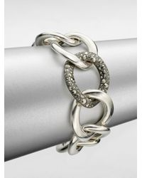 Pomellato | Metallic Sterling Silver Large Link Chain Bracelet/marcasite Link | Lyst