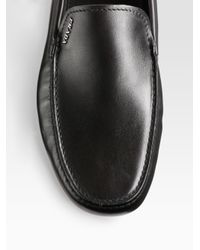 Prada - Black Driver Moccasins for Men - Lyst