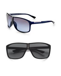 Prada | Black Shield Sunglasses for Men | Lyst