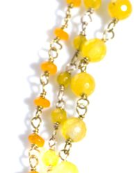 Rosantica - Yellow Rosarietto Agate Necklace - Lyst