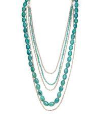 Slane | Blue Turquoise Multistrand Necklace | Lyst