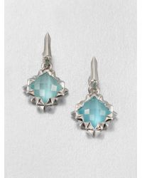 Stephen Webster - Blue Catseye Doublet Sterling Silver Drop Earrings - Lyst