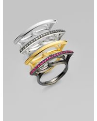 Stephen Webster | Metallic Sterling Silver Stacking Ring | Lyst