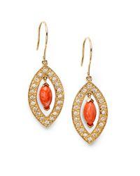 Sydney Evan - Metallic Diamond 14k Yellow Gold Earrings - Lyst