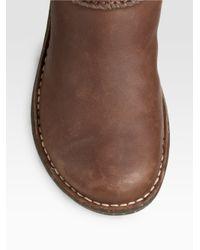 UGG - Black Sassari Leather & Suede Combat Boots - Lyst