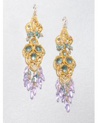 Alexis Bittar | White Gemstone Lace Chandelier Earrings | Lyst