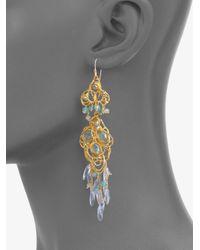 Alexis Bittar | White Gemstone Lace Chandelier Earrings | Lyst