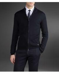 Armani - Blue Cardigan for Men - Lyst