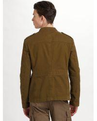 Burberry Brit | Green Garment-dyed Herringbone Jacket for Men | Lyst