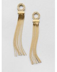 Ca&Lou | Metallic Iriana Swarovski Crystal Fringe Earrings | Lyst