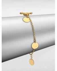 Gurhan | Metallic Lush 24k Yellow Gold Flake Charm Bracelet | Lyst