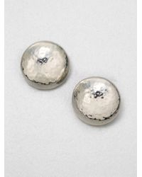 Ippolita | Metallic Glamazon Sterling Silver Button Earrings | Lyst