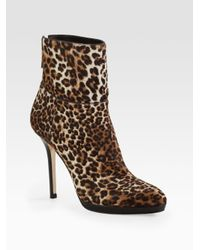 Jimmy Choo - Multicolor Alanis Leopard-print Calf Hair Ankle Boots - Lyst