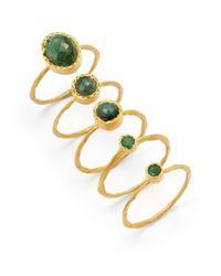 Kevia - Green Emerald Ring Set - Lyst