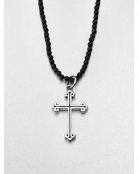 King Baby Studio | Black Traditional Cross Beaded Necklace | Lyst
