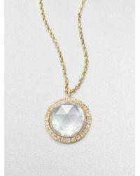 Mija | Metallic White Sapphire Necklace | Lyst