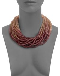 Pono | Multicolor Caviar Necklace | Lyst