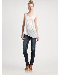 Rag & Bone - Blue The Skinny Jeans - Lyst