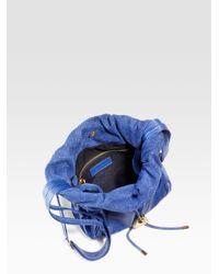 See By Chloé | Blue Esteli Mini Crossbody Drawstring Bag | Lyst