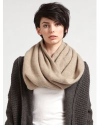 Vince - Natural Cashmere Loop Scarf - Lyst