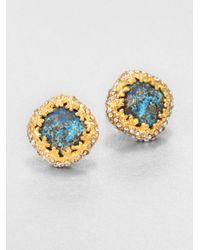 Alexis Bittar - Metallic Cordova Crystal Chrysocolla Stud Earrings - Lyst