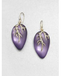 Alexis Bittar | Purple Vinemotif Lucite and Crystal Earrings | Lyst
