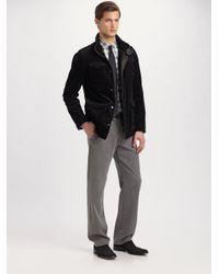 Armani | Black Pinwale Corduroy Jacket for Men | Lyst