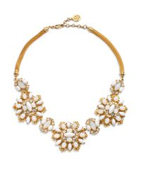 Ben-Amun | Metallic Floral Necklace | Lyst