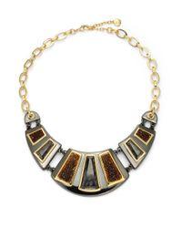 Carolee - Metallic Geometric Bib Necklace - Lyst