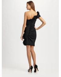 Catherine Malandrino | Black One-shoulder Ruched Dress | Lyst