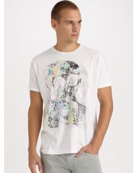 DIESEL | White Graphic Tee for Men | Lyst