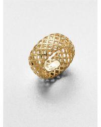Gucci - Metallic Diamantissima 18k Yellow Gold Band Ring - Lyst