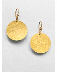 Gurhan | Metallic 24k Yellow Gold Disc Earrings | Lyst