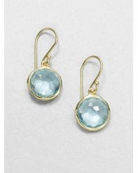 Ippolita | Lollipop Blue Topaz & 18k Yellow Gold Mini Drop Earrings | Lyst
