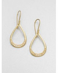 Ippolita | Metallic 18k Gold Diamond Teardrop Earrings | Lyst
