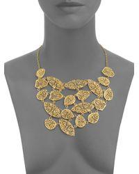 Isharya - Metallic Filigree Bib Necklace - Lyst