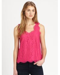 Joie | Cina Lace Top | Lyst