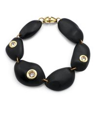Kara Ross | Black Pebble Rock Crystal Necklace | Lyst