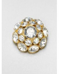 kate spade new york | White Sparkle Brooch | Lyst