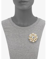 kate spade new york - White Sparkle Brooch - Lyst