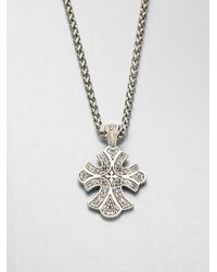 Konstantino | Metallic Sterling Silver Cross Pendant Necklace | Lyst