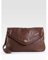 Marc By Marc Jacobs - Brown Totally Turnlock Magazine Clutch - Lyst