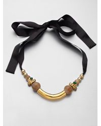 Marni - Black Mixedmedia Necklace - Lyst