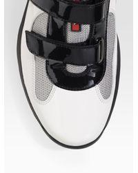 Prada - White Double-strap Sneakers for Men - Lyst