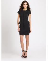 Theory - Black Mariela Tie-waist Poplin Dress - Lyst