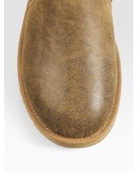 UGG - Brown Kenton Suede Slippers for Men - Lyst