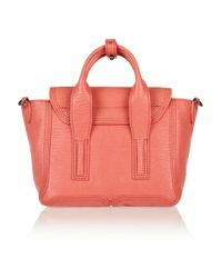 3.1 Phillip Lim | Pink The Pashli Small Sharkeffect Leather Trapeze Bag | Lyst