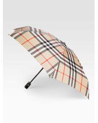 Burberry - Multicolor Automatic Check Umbrella - Lyst
